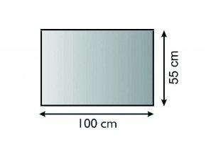Sklo pod kamna obdélník 100x55 tl. 6 mm