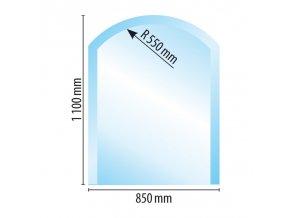 sklo pod kamna typ z i b u 110x85 R55