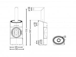 Austroflamm CLOU Compact  krbová kamna