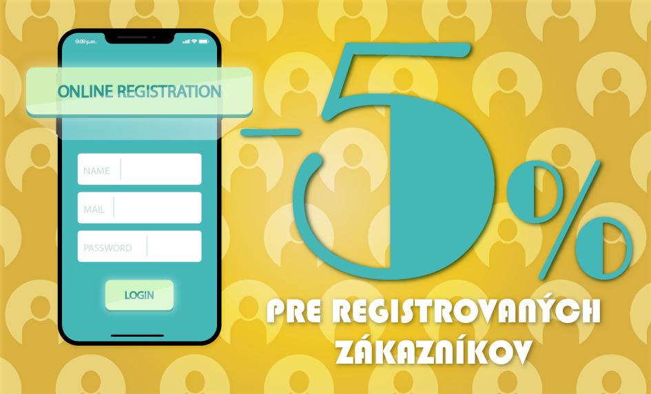-5% registrovaní zákazníci