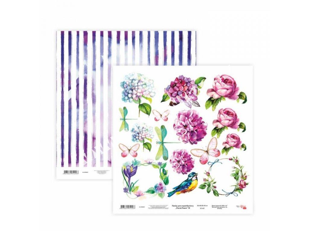 "scrappapier ""floral poem 19"""