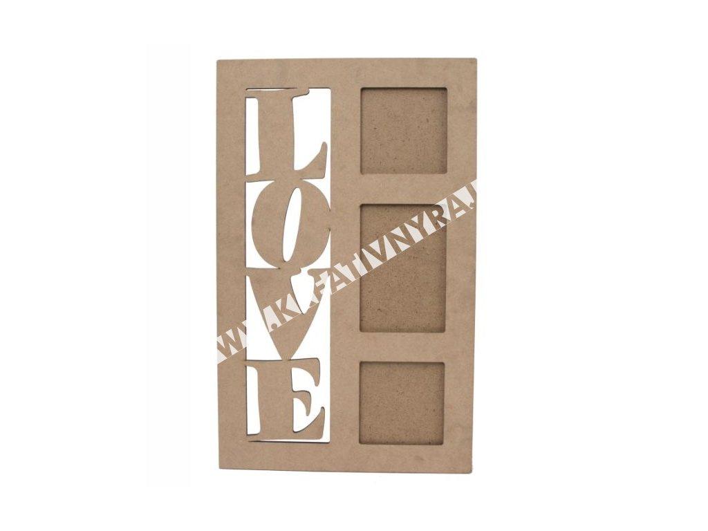 drevený rámček 3ks foto