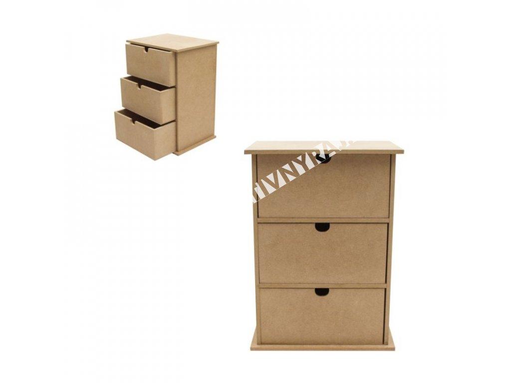 komoda 3 zásuvky