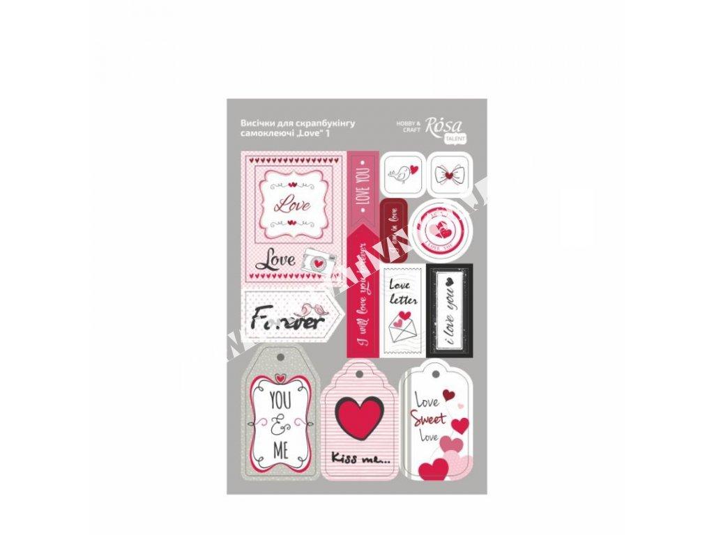 lepiace štítky LOVE 1
