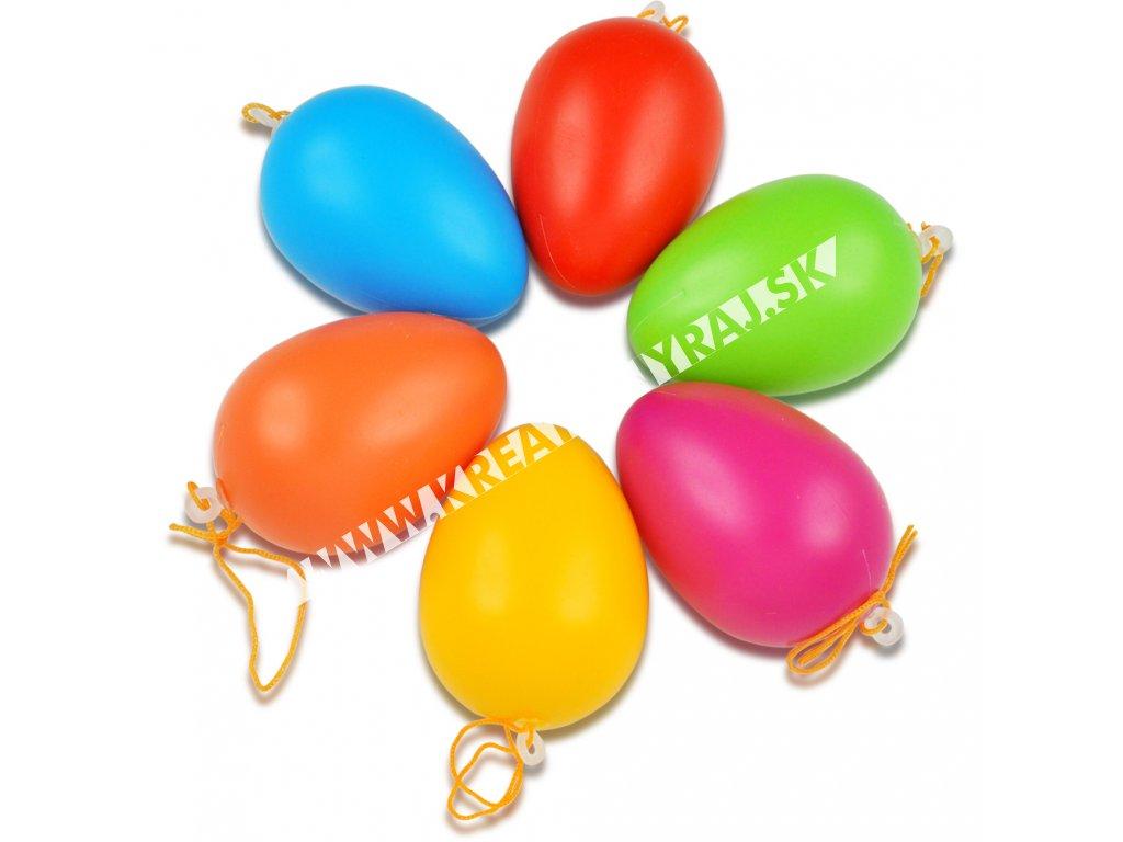 plastové vajce farebné