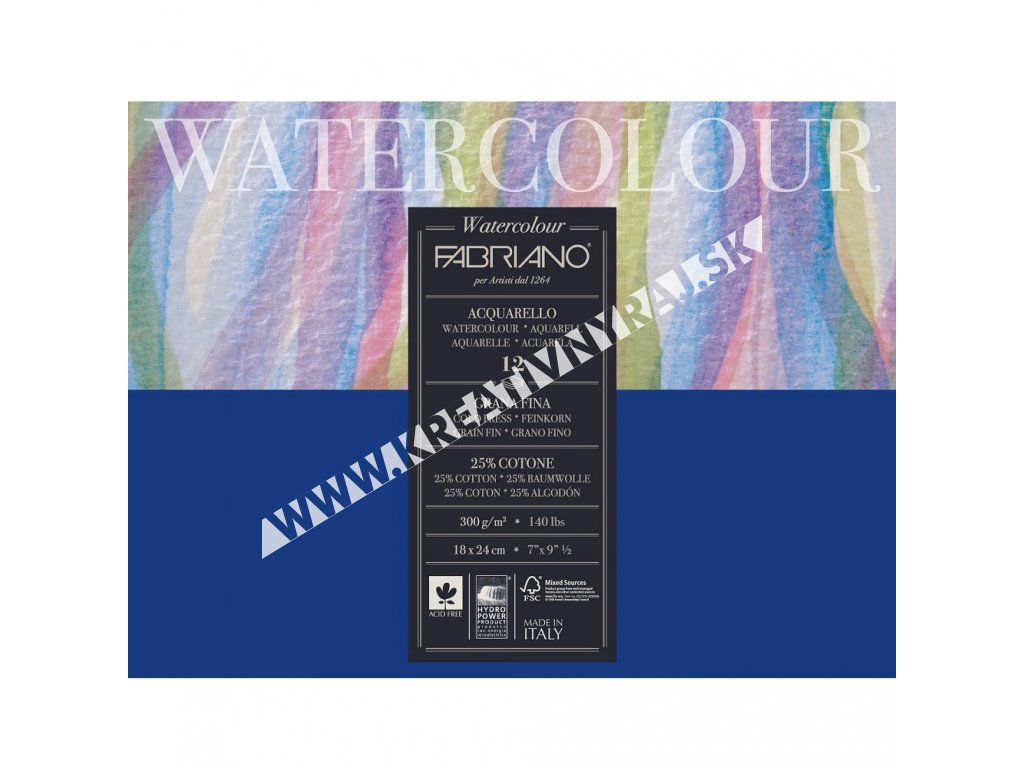 akvarelový blok Fabriano WATERCOLOUR 300G