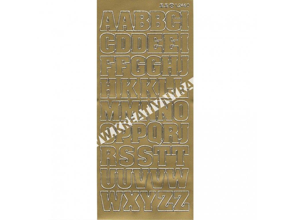 samolepka zlatá ABECEDA veľká