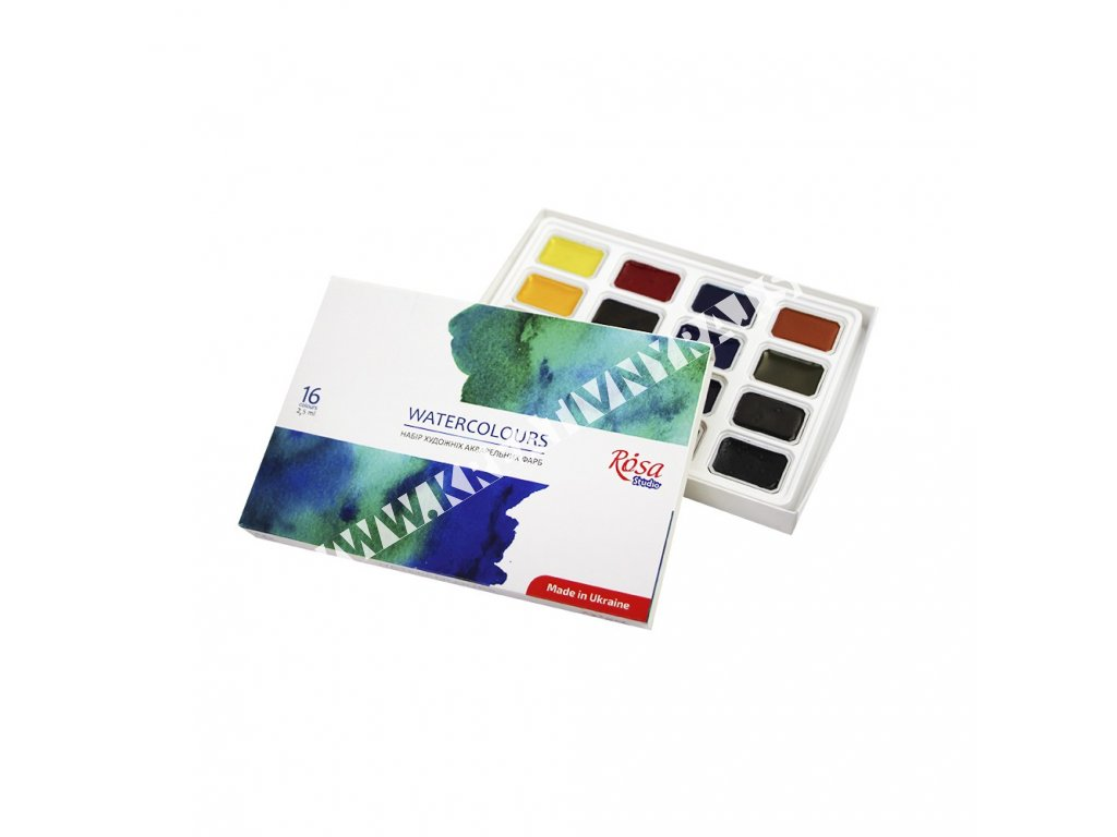 Akvarelová farba set ROSA STUDIO 16x2,5ml