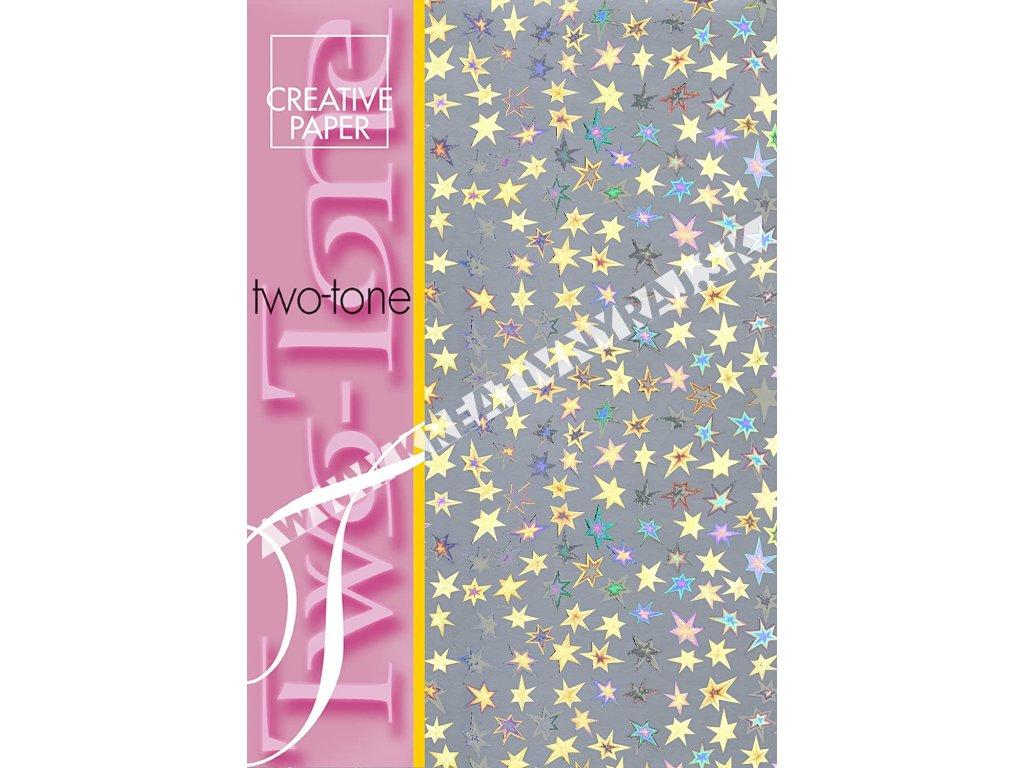 papier kreatívny two-tone hviezda