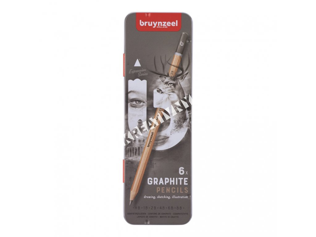 Bruynzeel ceruzka grafitová set art EXPRESSION 6 ks v plechu
