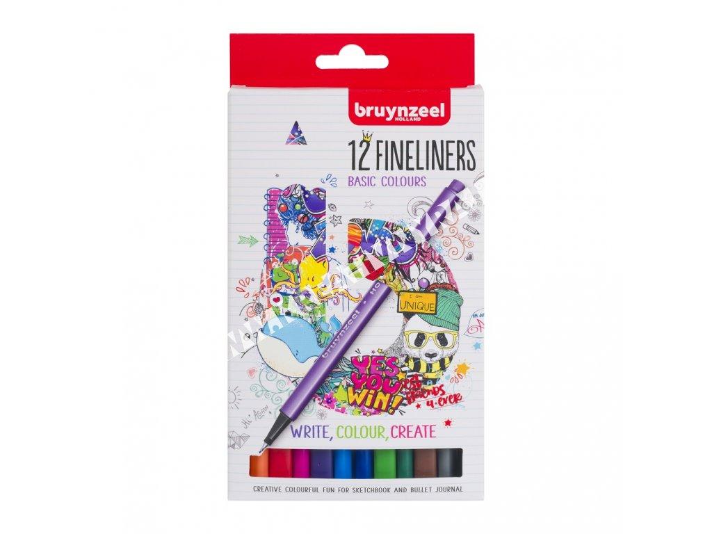 Bruynzeel Fineliner set - 12 ks