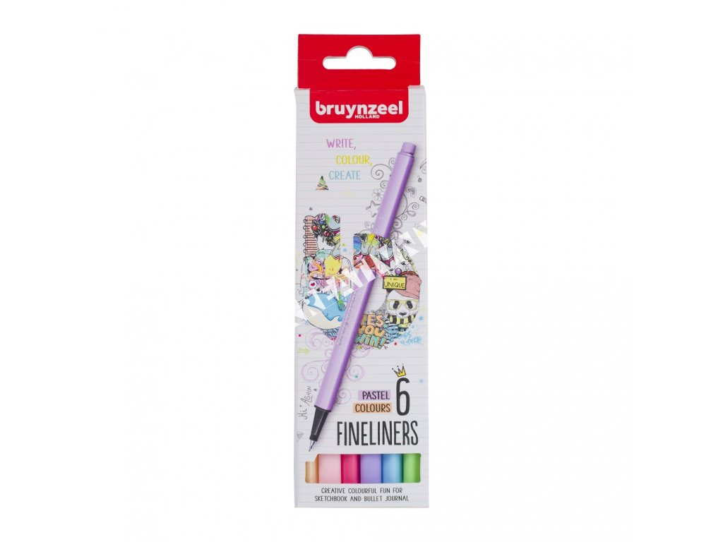 Bruynzeel Fineliner PASTEL  set - 6 ks