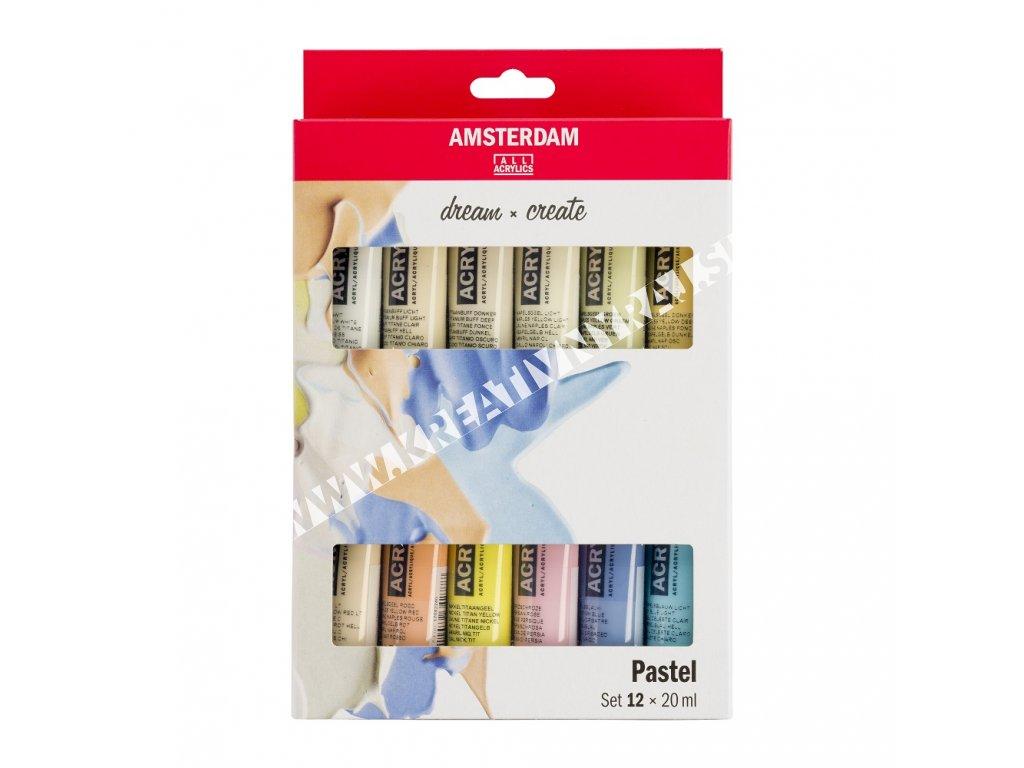Akrylové farby AMSTERDAM - PASTELS set 12x20 ml