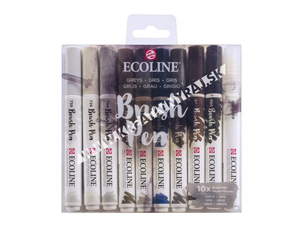 brushpen ECOLINE 10ks Greys