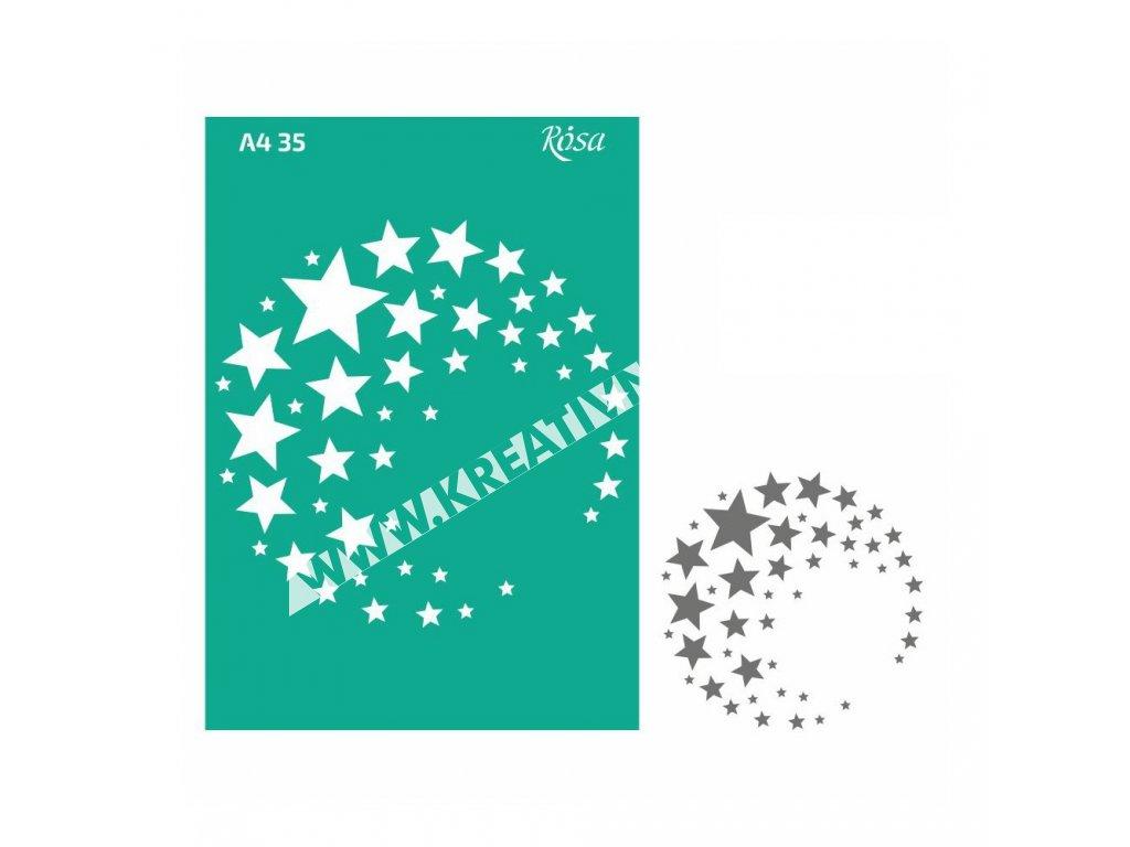 šablóna adhesive A4 no.35