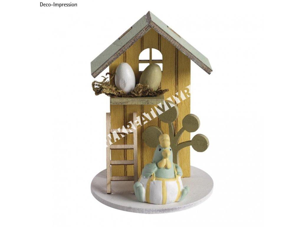 dekor ozdoba drevená skladačka letný dom