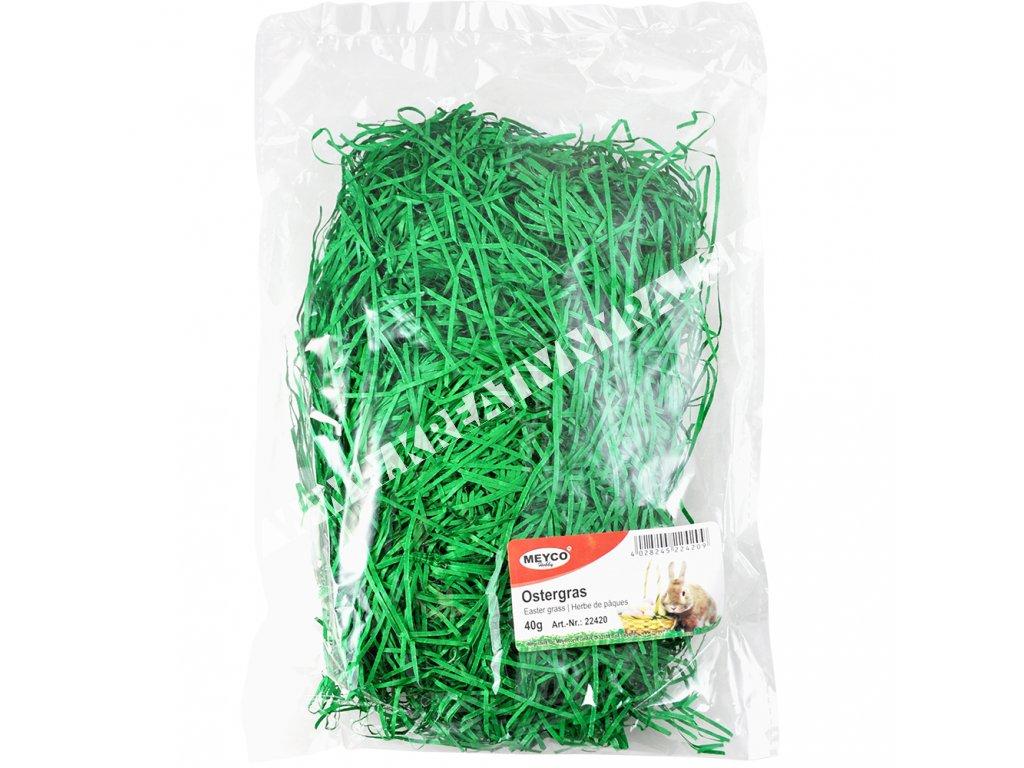 tráva zelená papierová