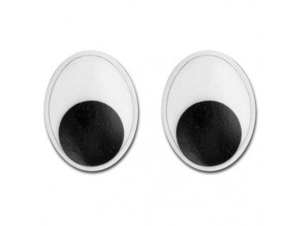 """plastové oči oválne """"8mm"""""""
