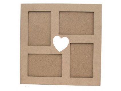 drevený rámček 4ks foto