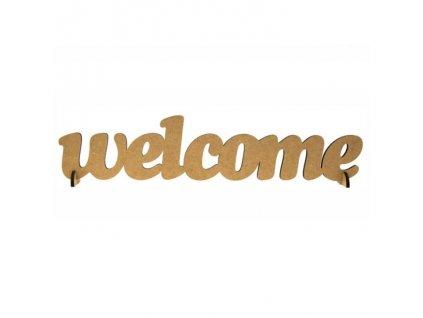 "ozdoba MDF ""welcome"""