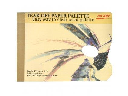 maliarska paleta papierová