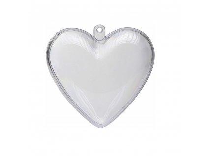 plastové srdce číre