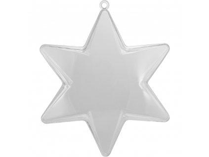 plastová hviezda číra
