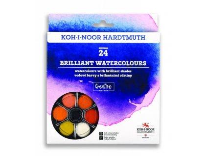 Vodové farby brilantné anilínové guľaté KOH I NOOR 24 farieb