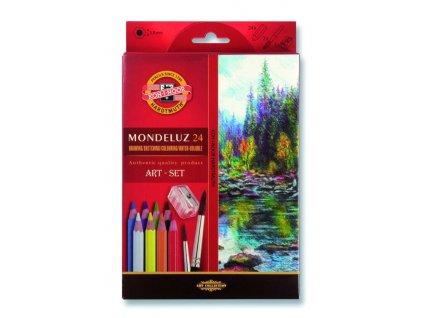 akvarel pastelky mondeluz 24 ks
