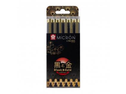 popisovač PIGMA MICRON Black Black & Gold Edition 6 ks
