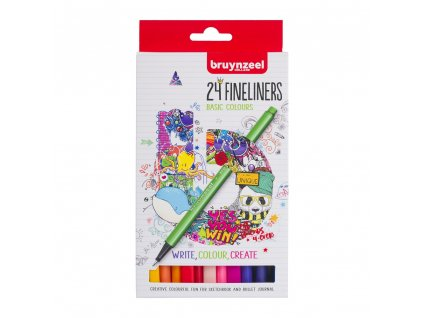Bruynzeel Fineliner set - 24 ks