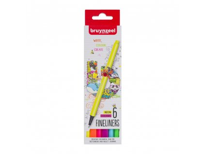 Bruynzeel Fineliner NEON set - 6 ks