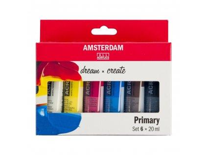 Akrylové farby AMSTERDAM - PRIMARY set 6x20 ml