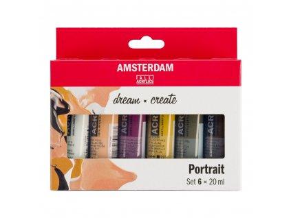 Akrylové farby AMSTERDAM - PORTRAIT set 6x20 ml