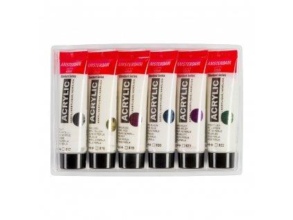 Akrylové farby AMSTERDAM - PEARLESCENT set 6x20 ml