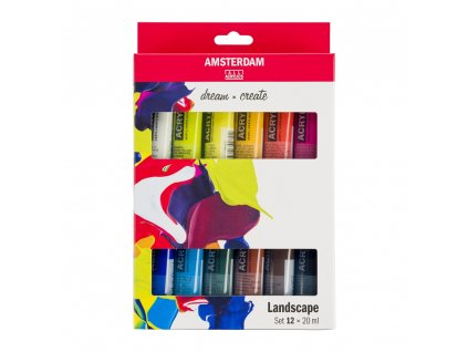 Akrylové farby AMSTERDAM - LANDSCAPE set 12x20 ml
