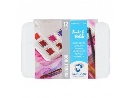 akvarelový set Van Gogh 12 farieb Pinks & Violets