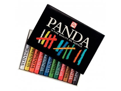 olejový pastel PANDA