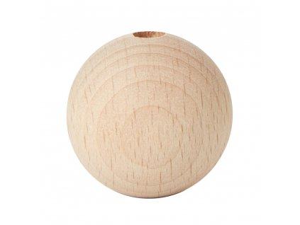 drevené korálky natur 40mm