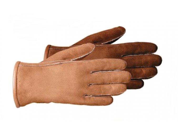 Kožešinové rukavice CLASSIC hnědé