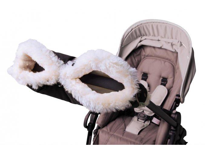 Kinderwagenhandwaermer black white