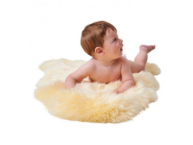 Dětská podložka z dlouhovlasé ovčí kožešiny - BABY COZY