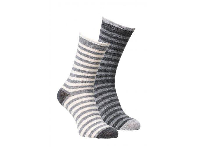 Alpaka Socken gestreift hell dunkel
