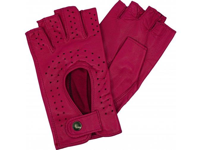 dámské rukavice bezprsté malina