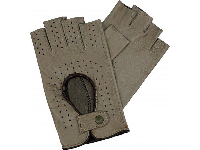 dámské rukavice bezprsté taupe