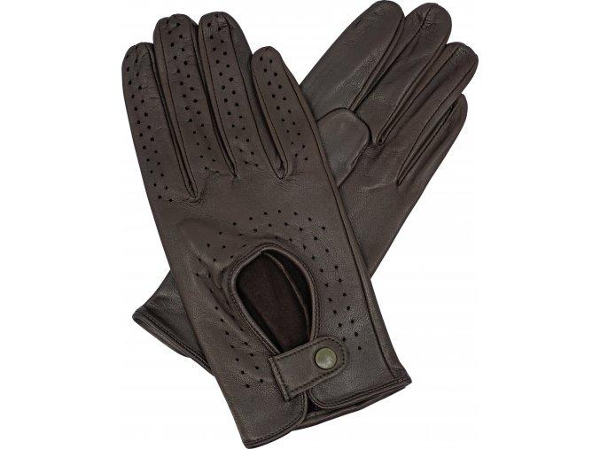 dámské řidičské rukavice hnědá