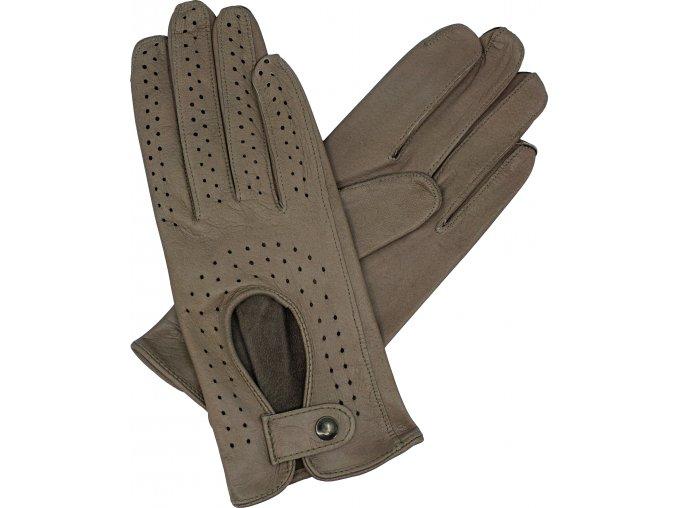 dámské řidičské rukavice taupe