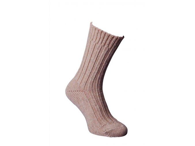 Alpaka Socken dick hellbraun