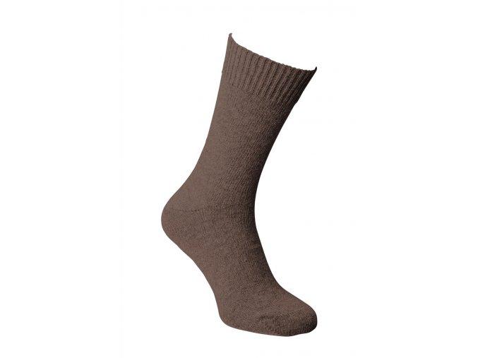 Ponožky alpaka - DÜNN tmavě hnědá