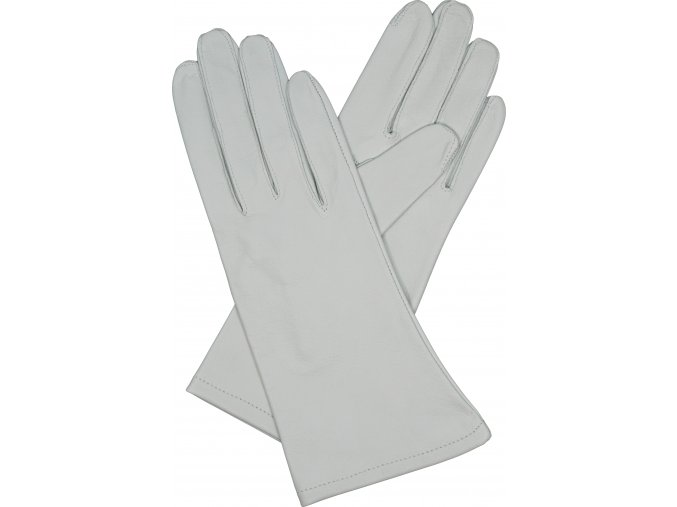 dámské rukavice bezpodšívkové bílé hladké
